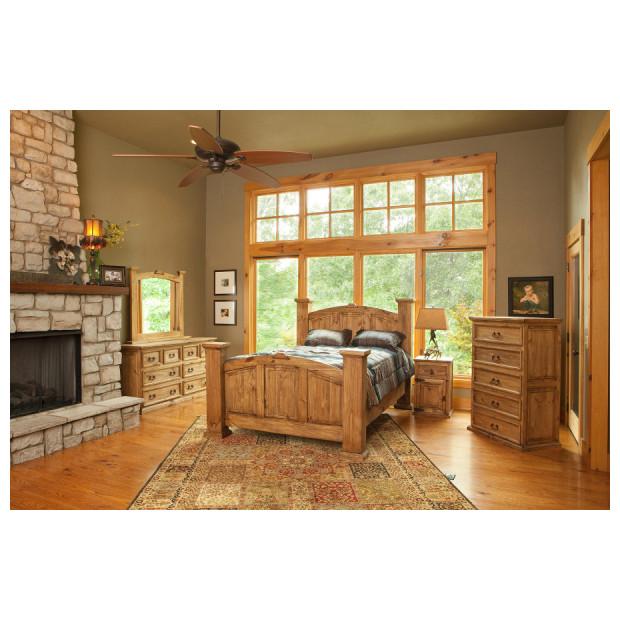 Fitzgerald Furniture CL RUSTIC MANSION QBDMN
