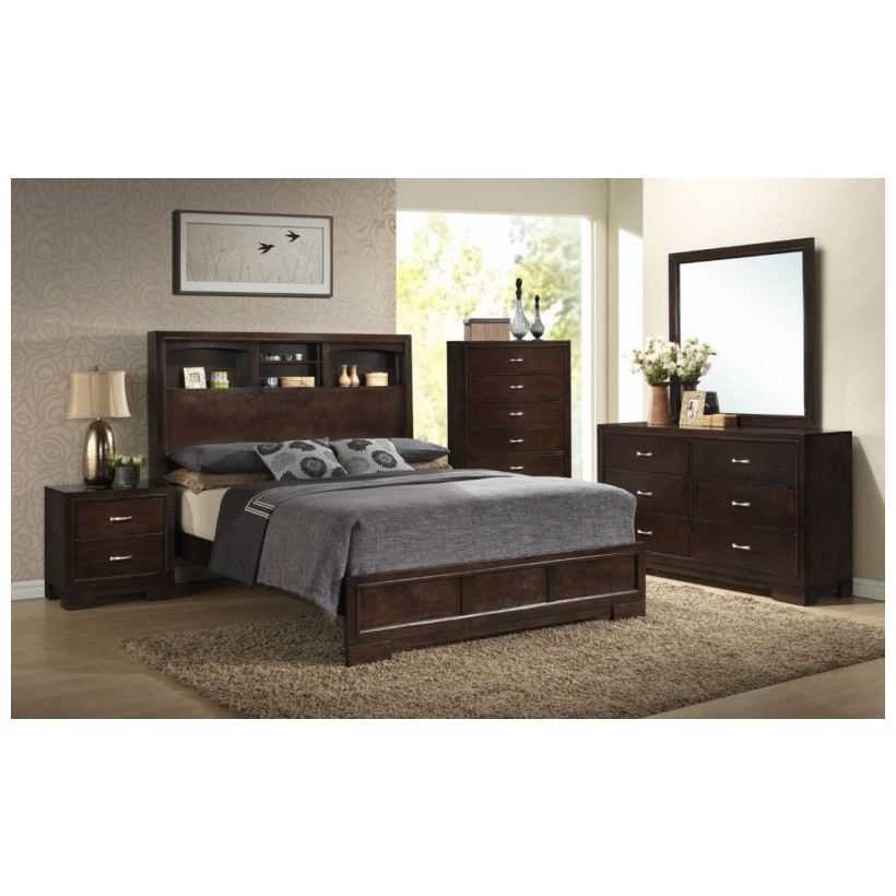 Fitzgerald Furniture CALAIS WALNUT QBDMN