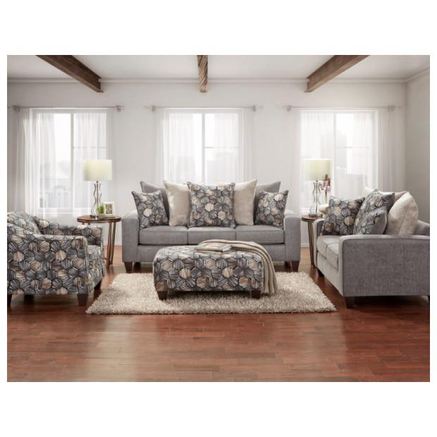 Fitzgerald Furniture SPARKLE GRAHITE S/L